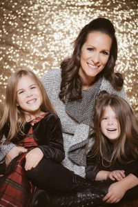 Jessica with her daughters Hannah and Isabel